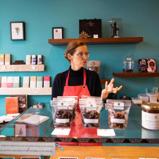 Meet the chocolatier and taste delicious local chocolate!